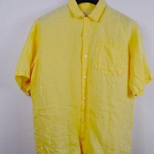 Banana Republic Men's Irish Linen Shirt - Medium